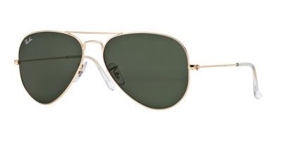 Ray-Ban AVIATOR Gold / Grey Green