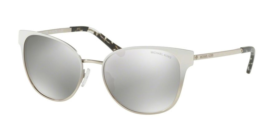 MICHAEL KORS TIA MK1022 White Gradient Silver Tone / Silver Mirror