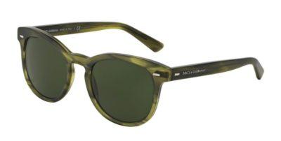 DOLCE & GABBANA DG4254 Matte Striped Olive Green / Grey Green