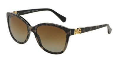 DOLCE & GABBANA DG4258 Leo on Black / Brown Gradient Polarized