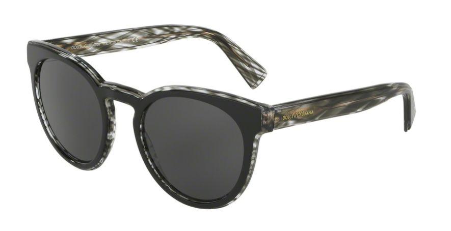 DOLCE & GABBANA DG4285 Top Black on Striped / Grey
