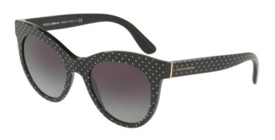 DOLCE & GABBANA DG4311 Pois White on Black / Grey Gradient
