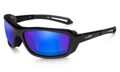 WAVE Gloss Black / Polarized Blue Mirror