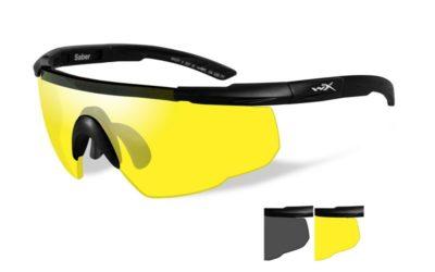 Saber Advanced Smoke+Yellow  Matte Black Frame w/Bag