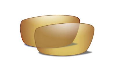 NUR GLÄSER für Modell: BOSS Pol Venice Gold Mirror Extra Lenses