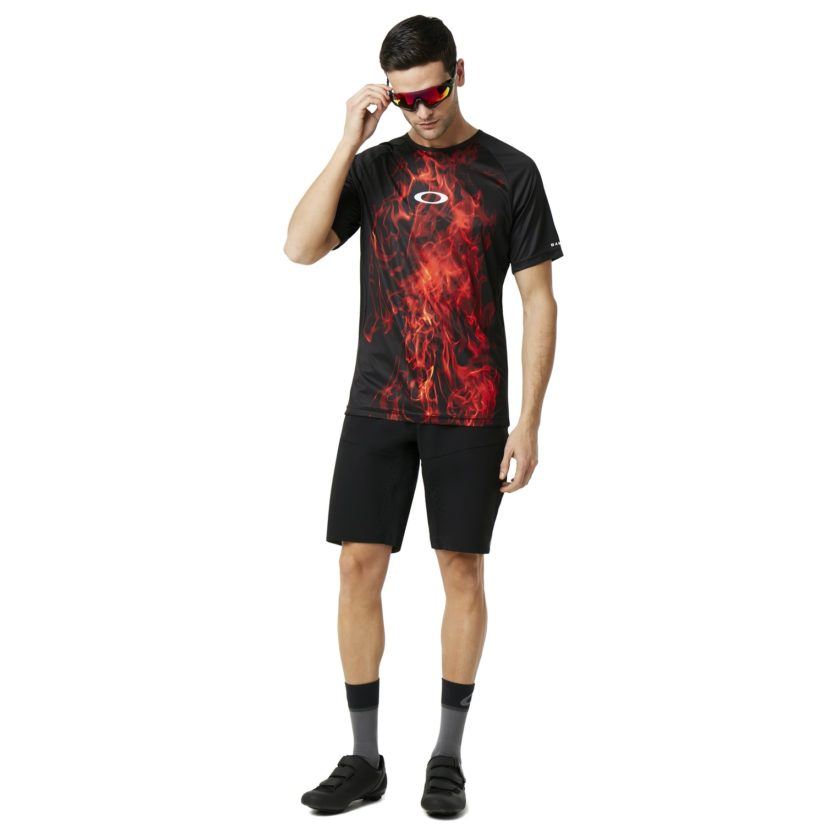 Mtb Short Sleeve Tech Tee Flames