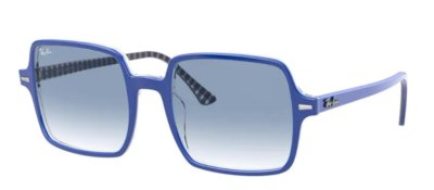 Ray-Ban RB1973 BLUE ON VICHY BLUE/WHITE Square II