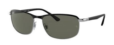 Ray-Ban RB3671 BLACK ON SILVER